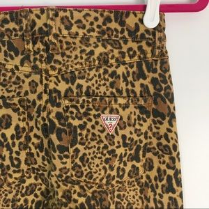 Guess Jeans - Guess High Waist Skinny Jeans Leopard Cheetah 25